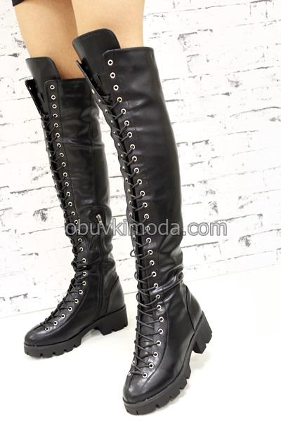 Дамски чизми - ZP882A-BLACK