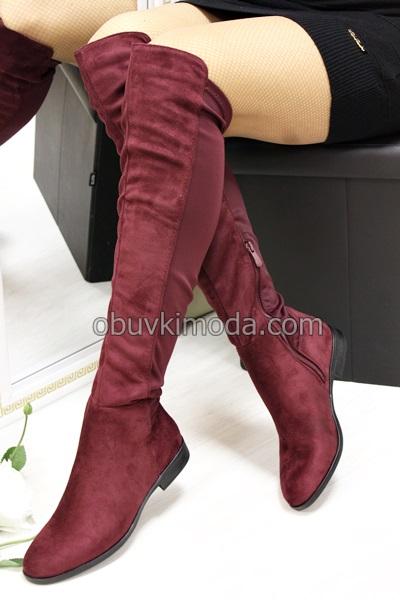 Дамски чизми - R269-BORDO