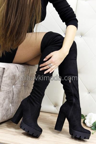 Дамски чизми - Q2X4845-1-BLACK