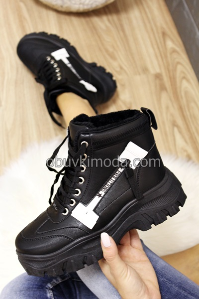 Дамски боти - 690056-BLACK