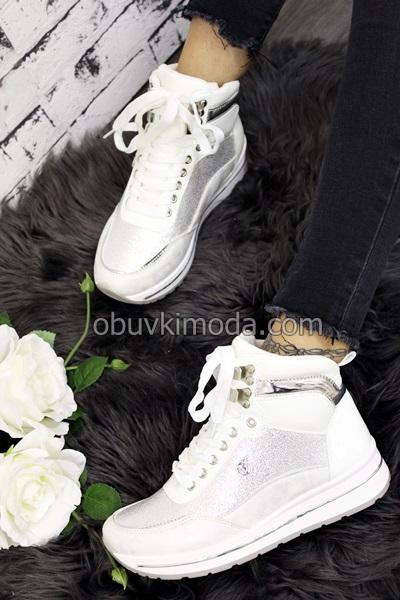 Дамски кецове - 2830-WHITE
