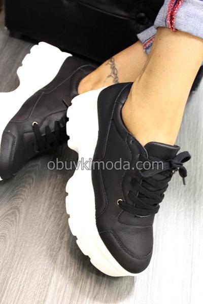 Спортни обувки на  дебела подметка - P6XX7246-10-BLACK