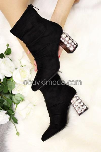 Дамски боти - N7AX8396-1-BLACK