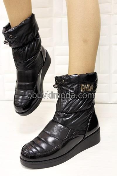 Дамски боти  - F1119-BLACK