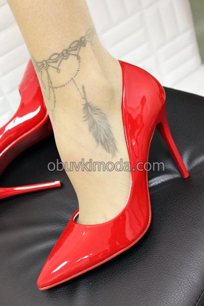 Дамски обувки на ток - L509-RED