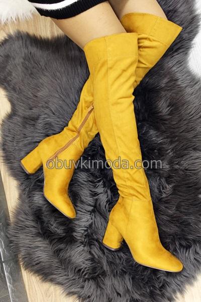 Дамски чизми - M247-YELLOW