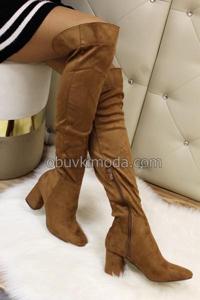 Дамски чизми - M247-CAMEL