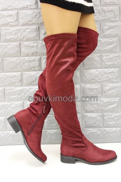 Дамски чизми - YY6756-REDWINE