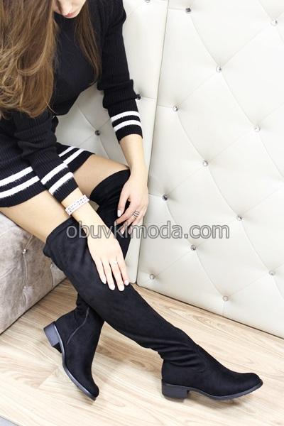 Дамски чизми - YY6756-BLACK