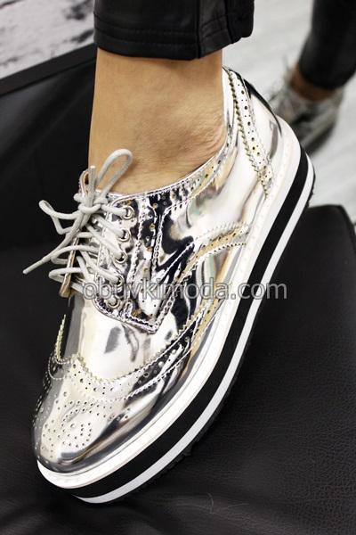 Дамски обувки - 2608-SILVER