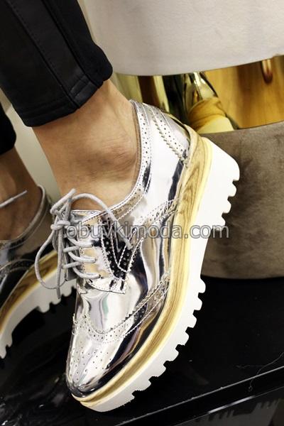 Дамски обувки - 6866-SILVER
