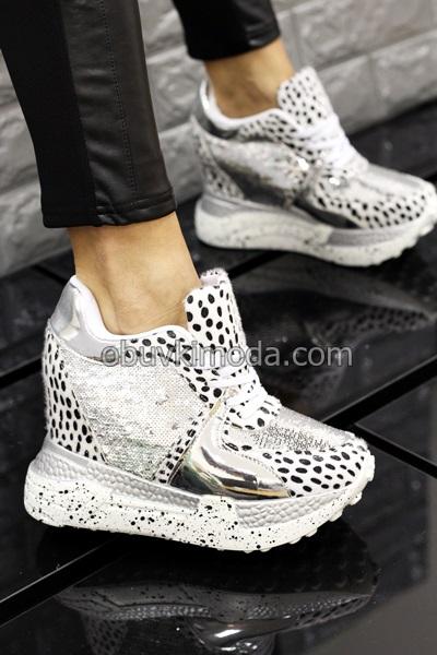 Спортни обувки на платформа - BL274-WHITE