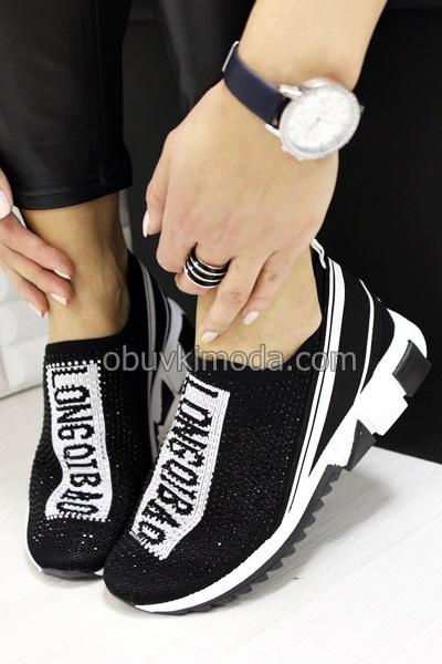 Дамски маратонки - B229-1-BLACK