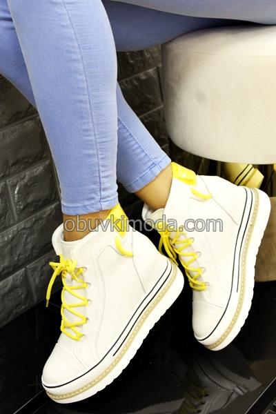 Спортни обувки естествена кожа - CJL18-BEIGE