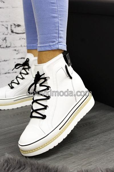 Спортни обувки естествена кожа - CJL18-WHITE