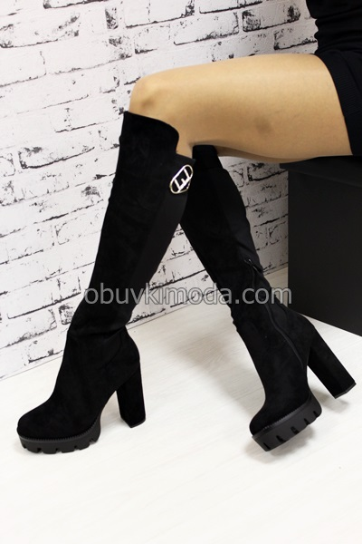Дамски ботуши - R395-BLACK