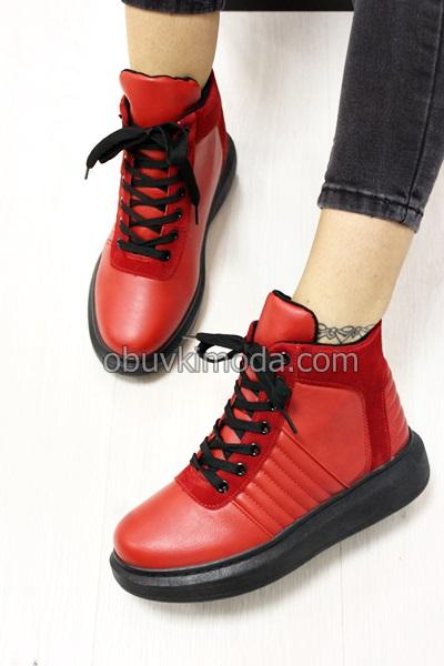 Дамски боти - AB5642-RED
