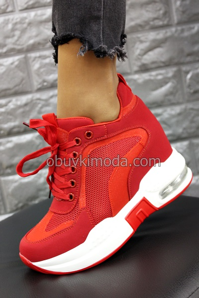 Спортни обувки на платформа - SZ182-RED