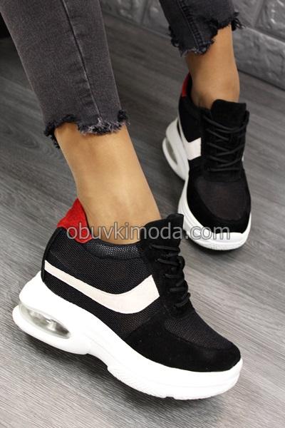 Спортни обувки на платформа - QQ23-BLACK