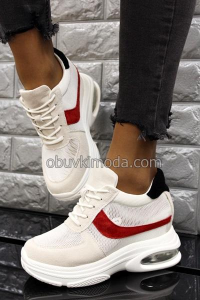 Спортни обувки на платформа - QQ23-WHITE