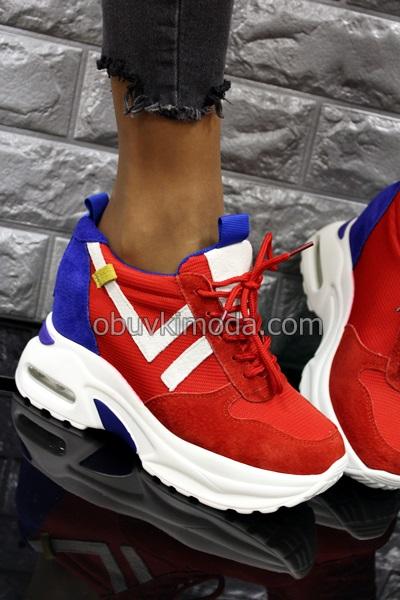 Спортни обувки на платформа - QQ5-RED