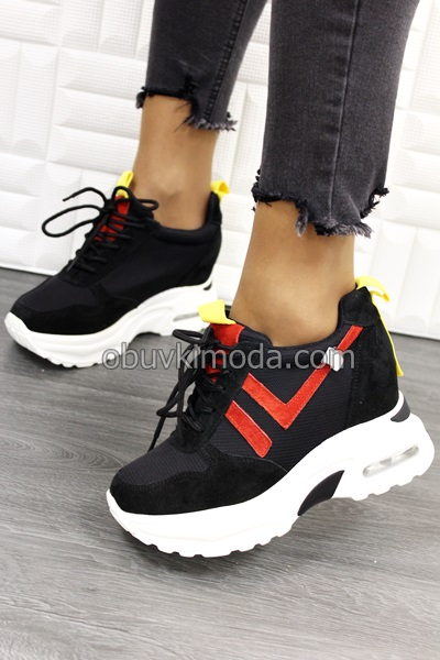 Спортни обувки на платформа - QQ5-BLACK