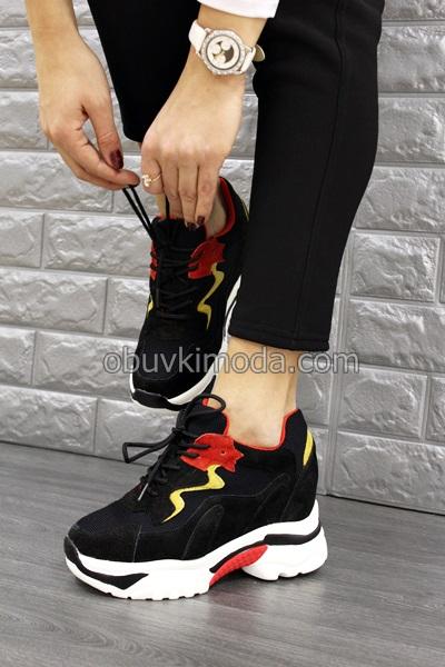 Спортни обувки на платформа - QQ6-BLACK